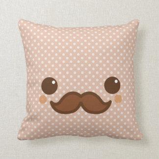 Cute coffee mustache throw pillows