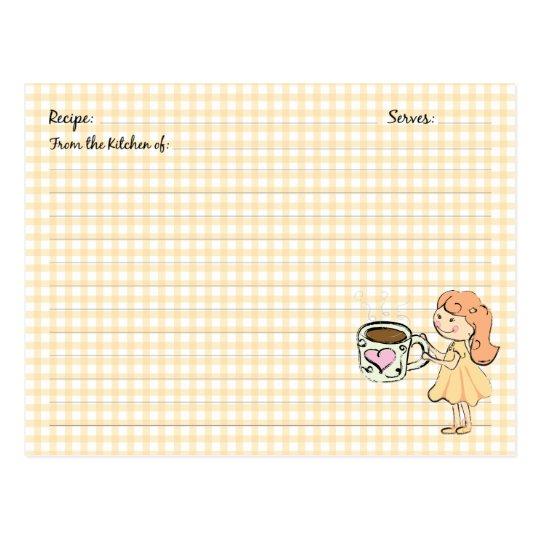 Cute Coffee Recipe Cards