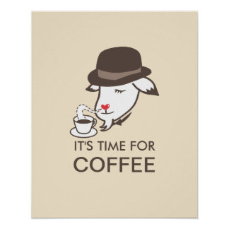 Cute Coffee Time Kitchen Posters