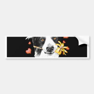 cute collie bumper sticker