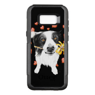 cute collie Hearts OtterBox Commuter Samsung Galaxy S8+ Case