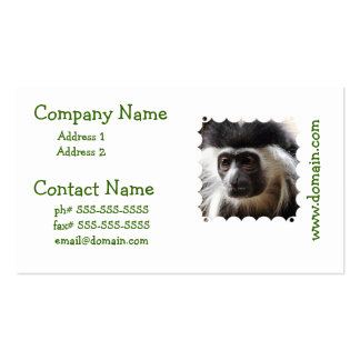 Cute Colobus Monkey Business Cards