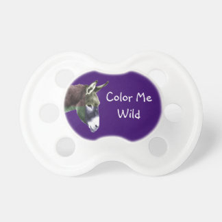 Cute Color Me Wild Donkey Burro Baby Pacifier