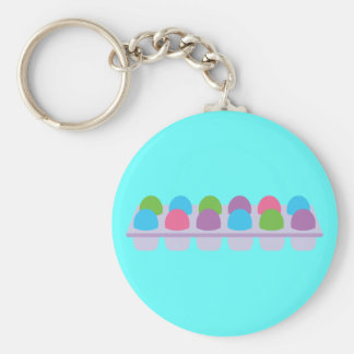 Cute Colored Eggs in Carton Keychains