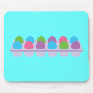 Cute Colored Eggs in Carton Mouse Pad