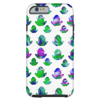 Cute Colored Frogs Tough iPhone 6 Case