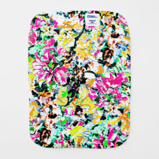 Cute colorful abstract floral baby burp cloth