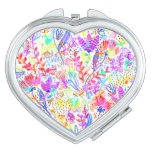 Cute colorful abstract flowers patterns mirror for makeup