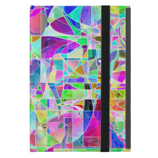Cute colorful abstract geometric fragments design cover for iPad mini