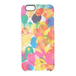 Cute colorful abstract painting clear iPhone 6/6S case