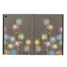 Cute Colorful Abstract Retro Flowers Ipad Air Cover at Zazzle