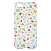 Cute Colorful Animal Footprints Pattern iPhone 8/7 Case
