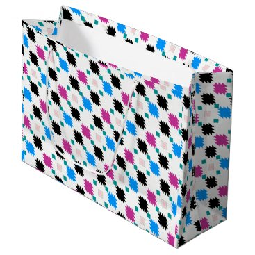 Cute colorful aztec pattern large gift bag