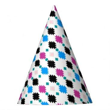 Cute colorful aztec pattern party hat