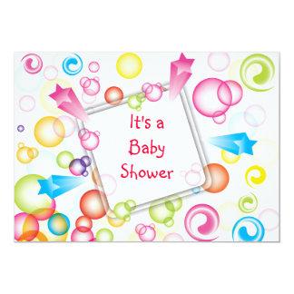 Cute Colorful  Baby Shower Invitation VOL2