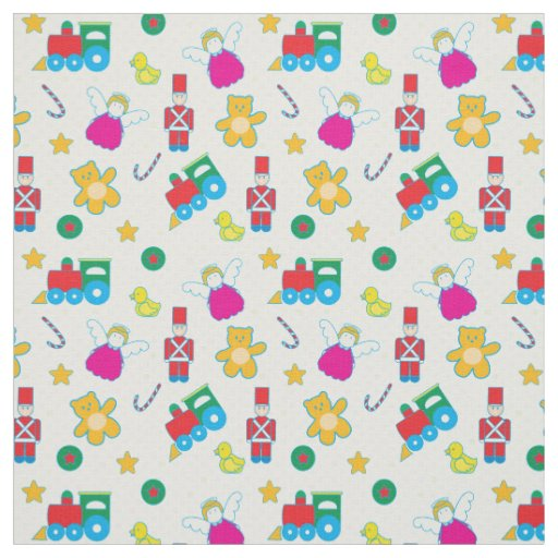 Cute colorful baby toys fabric zazzle for Cute baby fabric