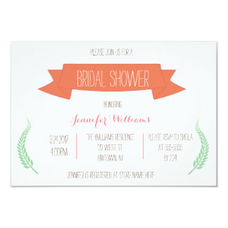 Cute colorful banner bridal shower invitations