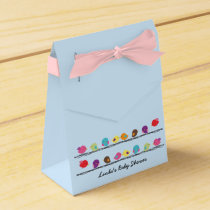 cute colorful birds on ropes favor box