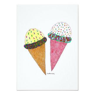 Cute Colorful Birthday Ice Cream Card