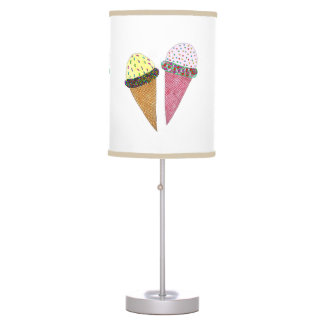 Cute Colorful Birthday Ice Cream Table Lamp