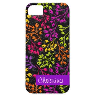 Cute colorful & black autumn berries iPhone SE/5/5s case