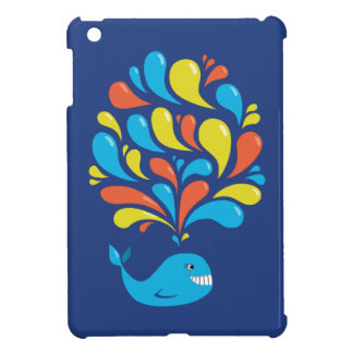 Cute Colorful Blue Whale Case For The iPad Mini