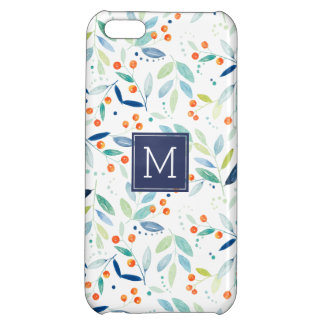 Cute Colorful Botanical Watercolors Illustration iPhone 5C Cases