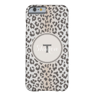 Cute colorful brown beige cheetah print monogram barely there iPhone 6 case
