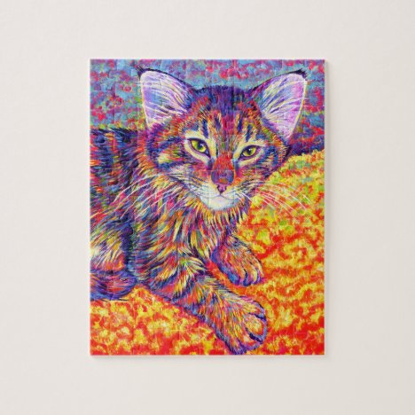 Cute Colorful Brown Tabby Kitten Jigsaw Puzzle
