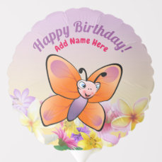 Cute Colorful Butterfly Cartoon Balloon