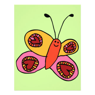 Cute Colorful Butterfly Cartoon Flyer