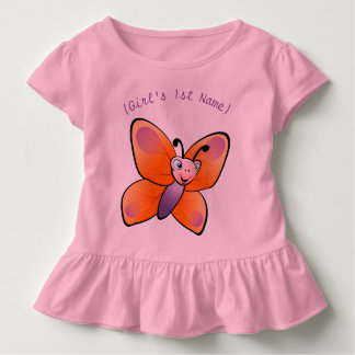 Cute Colorful Butterfly Cartoon Toddler T-shirt