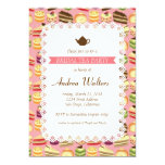 Cute Colorful Cakes Illustration Bridal Tea Party Card at Zazzle