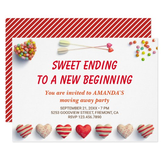 cute colorful candies farewell party invitation - Goodbye Party Invitation