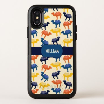 Cute Colorful Cartoon Camels Pattern Personalized OtterBox Symmetry iPhone X Case
