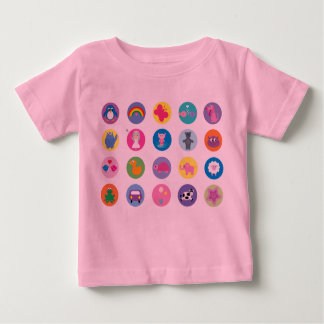 Cute Colorful Cartoon Icons Baby T-Shirt