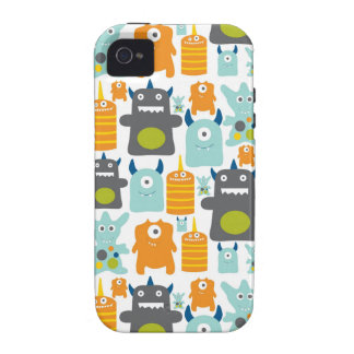 Cute colorful cartoon monsters iphone 4 case