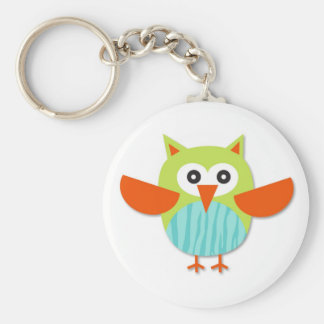 Cute colorful cartoon owl keychain