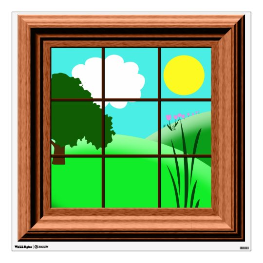 Cute colorful cartoon window decal for Window design cartoon