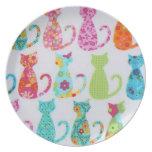 Cute Colorful Cat Plate