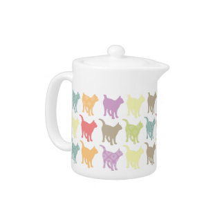 Cute Colorful Cats Pattern Teapot