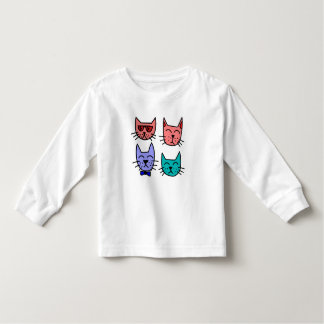 Cute Colorful Cats Toddler T-shirt
