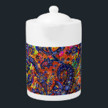 "Cute colorful chakra pattern teapot<br><div class=""desc"">Cute colorful chakra pattern</div>"