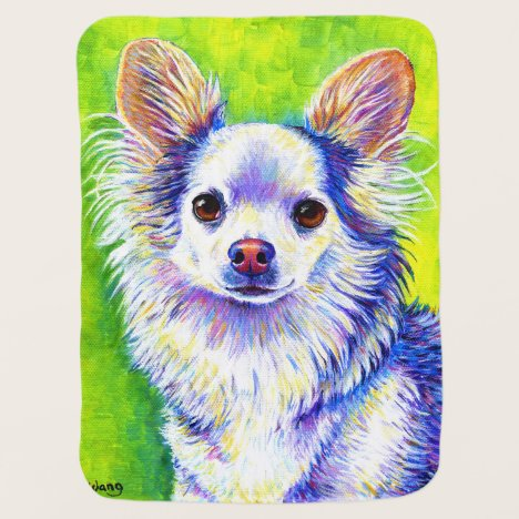 Cute Colorful Chihuahua Dog Baby Blanket