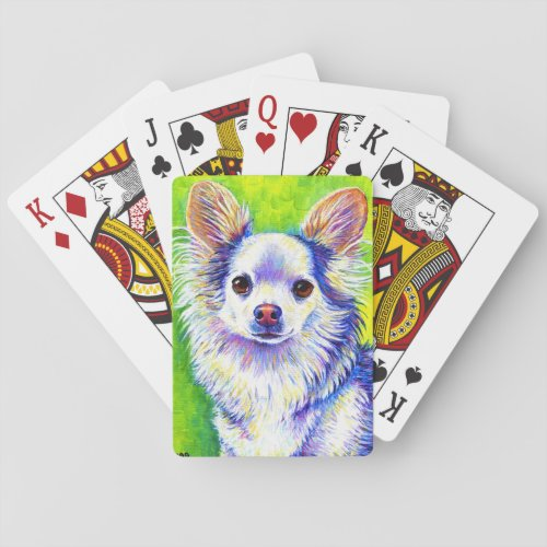Cute Colorful Chihuahua Dog Playing Cards