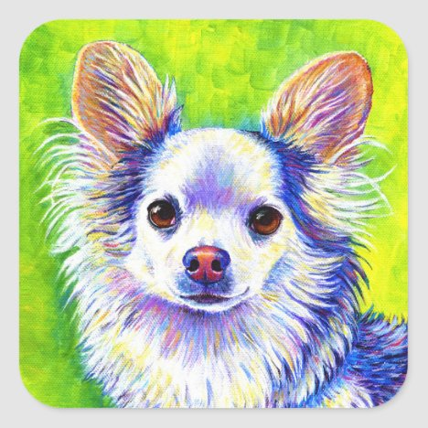 Cute Colorful Chihuahua Dog Stickers