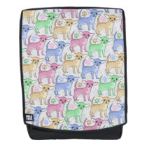 Cute Colorful Chihuahuas Backpack