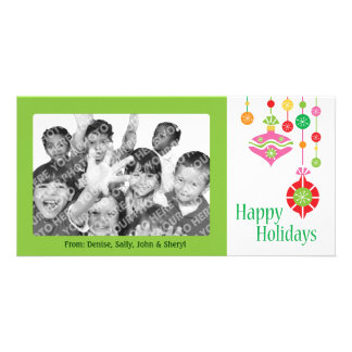 Cute Colorful Christmas Ornaments Picture Card