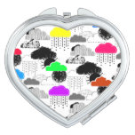 Cute colorful clouds patterns compact mirror