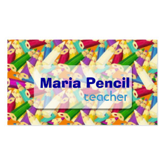 Cute Colorful Color Pencil Business Card